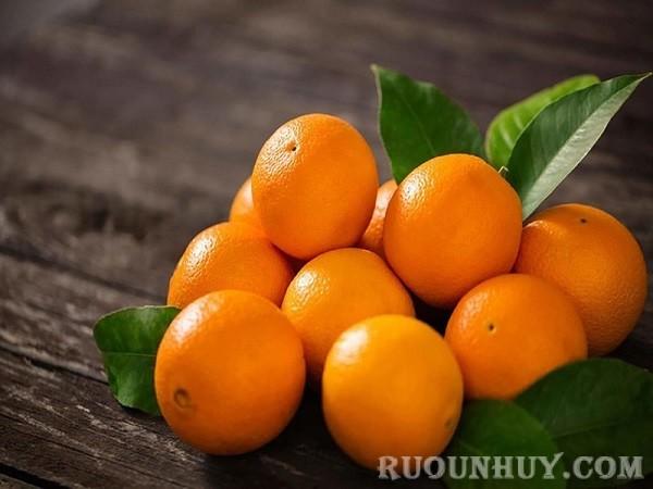 Nguyên liệu cần chuẩn bị để ngâm rượu cam